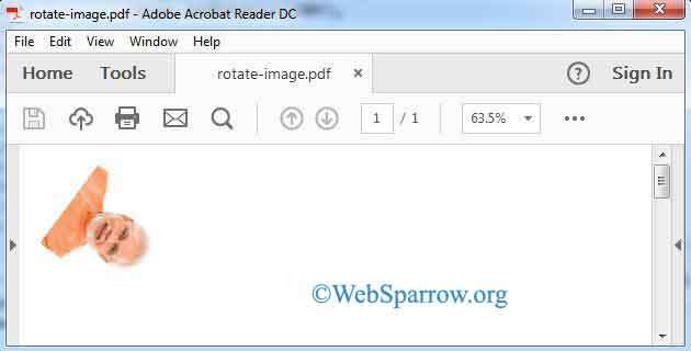 How to add and rotate Image in PDF using iText and Java