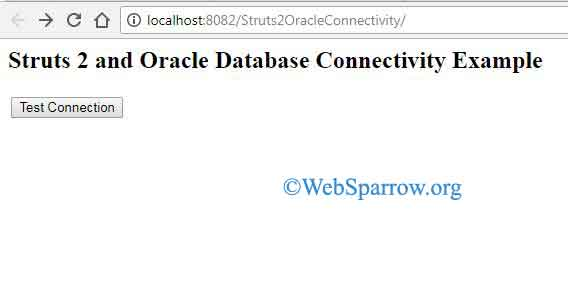 Struts 2 and Oracle Database Connectivity Example
