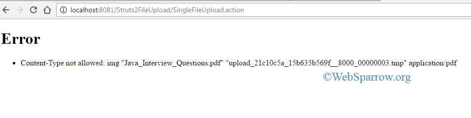 Struts 2 File Upload Example