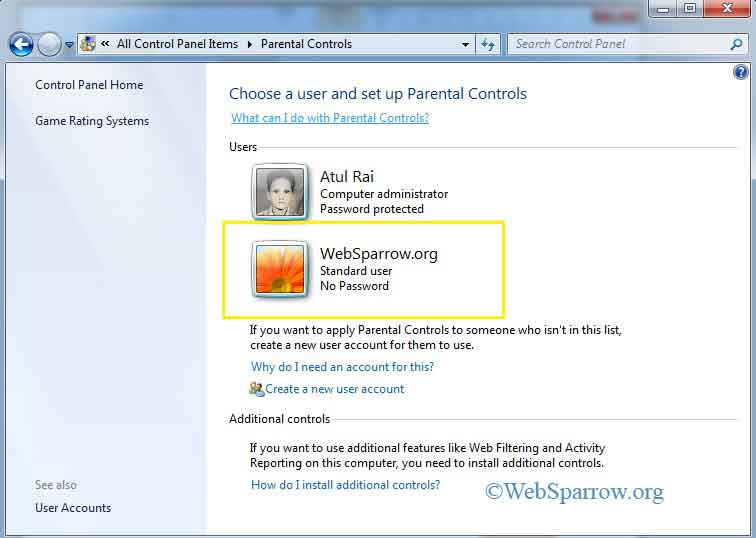 How to create new user account in Windows 7?